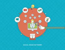 Communication, distance education and social media Stock Image