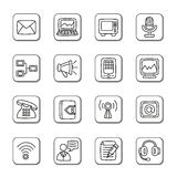 Communication Doodle Icons Royalty Free Stock Images