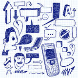 Communication doodles Royalty Free Stock Photos
