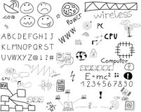 Communication doodles Royalty Free Stock Photography