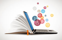 IT Communication - e-learning. Internet network as knowledge base