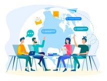 Communication en ligne de médias sociaux illustration stock