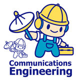 Communication Engineering mascot. Education and life Character D Stock Image