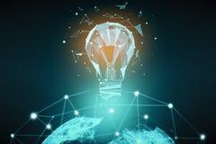 Communication et concept global d'innovation illustration libre de droits