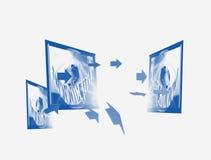 Communication et télévision illustration de vecteur