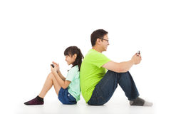 Communication between father and daughter Royalty Free Stock Photography