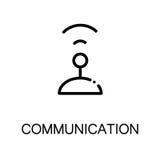 Communication flat icon Stock Images