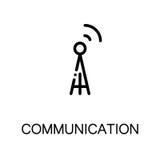 Communication flat icon Stock Image
