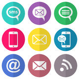 Communication flat icons Stock Photography