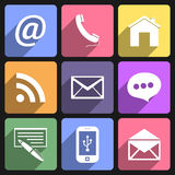 Communication flat icons set Royalty Free Stock Photo