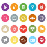 Communication flat icons on white background Royalty Free Stock Image