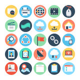 Communication Flat Vector Icons 4 Stock Image