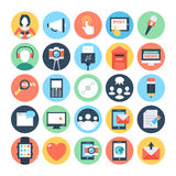 Communication Flat Vector Icons 6 Royalty Free Stock Image