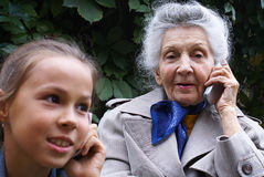 Communication of generations Royalty Free Stock Photo