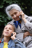 Communication of generations Royalty Free Stock Image