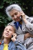 Communication of generations Royalty Free Stock Image