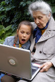 Communication of generations Stock Photography
