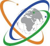Communication global logo Royalty Free Stock Photos
