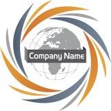 Communication global logo Stock Image