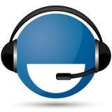 Communication globe. Amazing cool headphone  globe  illustration Royalty Free Stock Images