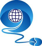 Communication globe logo. Illustration drawing art a communication globe logo with white background Royalty Free Stock Photos