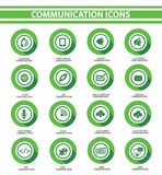 Communication,Green buttons Royalty Free Stock Images