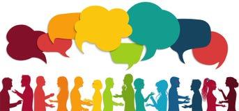 Free Communication Group People. Speech Bubble Cloud. Talking Crowd. Network Silhouette Profile. Communicate. Community Diverse People. Royalty Free Stock Photo - 160762375