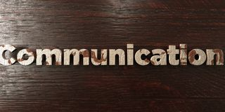 Communication - grungy wooden headline on Maple  - 3D rendered royalty free stock image Stock Image