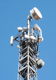 Communication Gsm, Umts e Hsdpa tower. Communication cell tower for wireless technology: Gsm and Hsdpa, Umts and Gprs, Edge and Hsupa Stock Photography