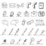 Communication hand draw element  Stock Photography