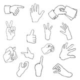 Communication hand draw element  Stock Images