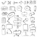 Communication hand draw element  Stock Photo