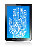 Communication  hand  tablet Stock Photo