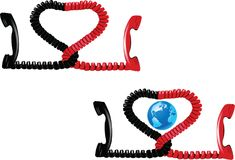 Communication handset with globalization.  Stock Image