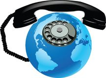 Communication handset with globalization.  Royalty Free Stock Images