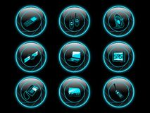 Communication icon buttons Stock Photo