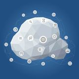 Communication Icon Cloud Network Vector Illustration Royalty Free Stock Photo