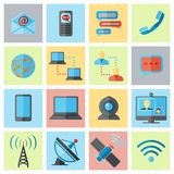 Communication icon flat set royalty free illustration