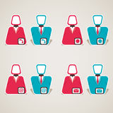 Communication icon with male female. Stock Stock Images