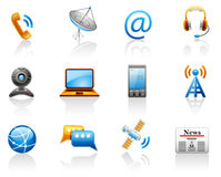Communication icon set. Stock Photography