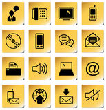 Communication icon set Royalty Free Stock Photo