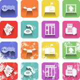 Communication Icon Set Royalty Free Stock Images