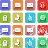 Communication Icon Set Royalty Free Stock Photos