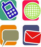 Communication Icon Set Royalty Free Stock Photography