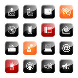Communication icon set- glossy series Stock Photo
