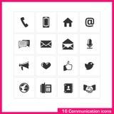 Communication icon set. Royalty Free Stock Photo