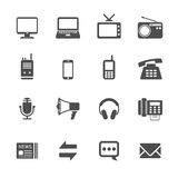 Communication icon set, vector eps10 Stock Photos