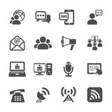 Communication icon set, vector eps10 Royalty Free Stock Images