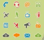 Communication icon set Stock Photos