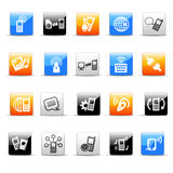 Communication icons. Set of 20 glossy communication icons vector illustration